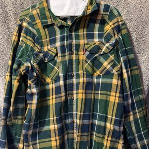 Levi's green and yellow flannel